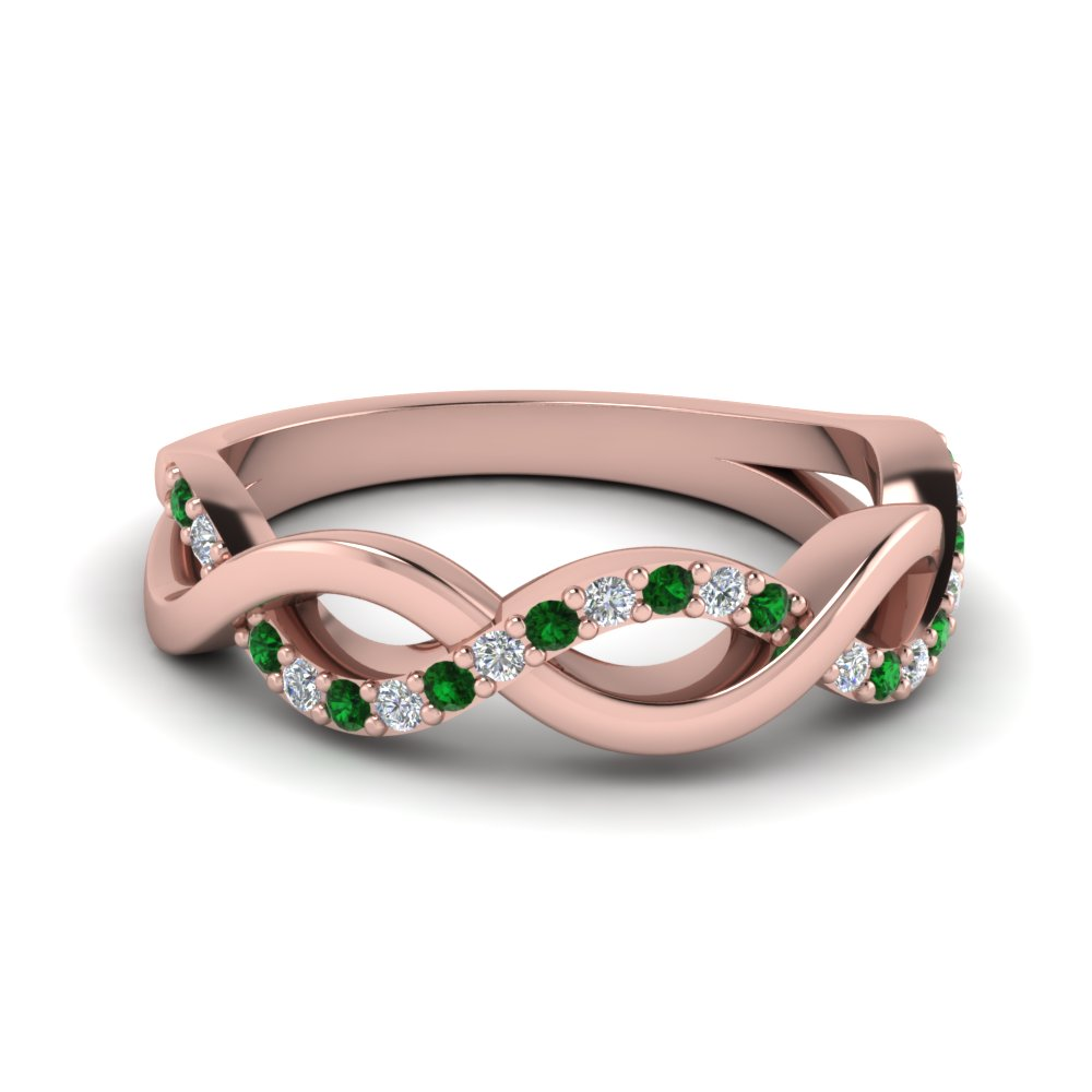 rose gold infinity wedding band