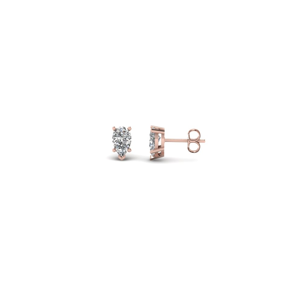 0.25 Ct. Pear Diamond Stud Earring
