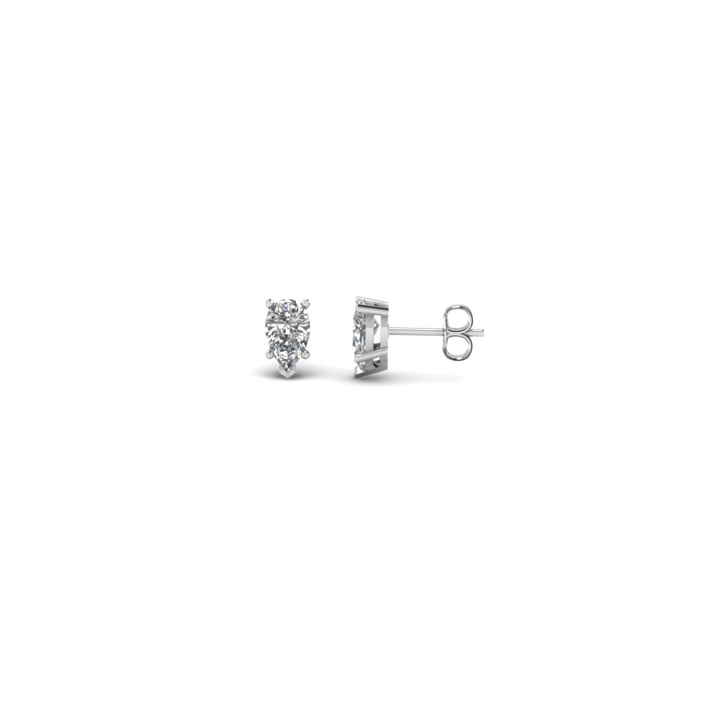 0.25 ct. pear diamond stud earring in FDEAR5PE0.12CT NL WG