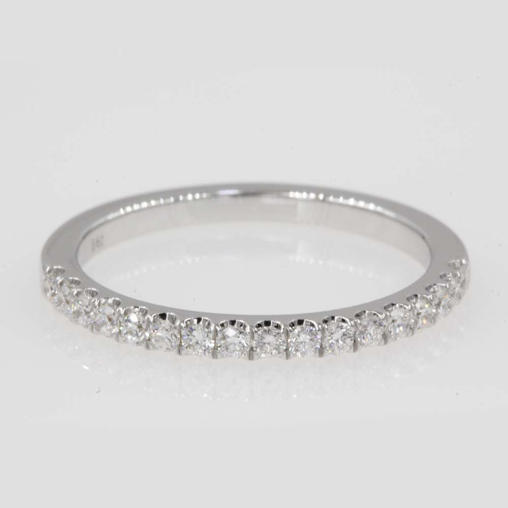 0.25 carat affordable half eternity band in 18K white gold FD9330B