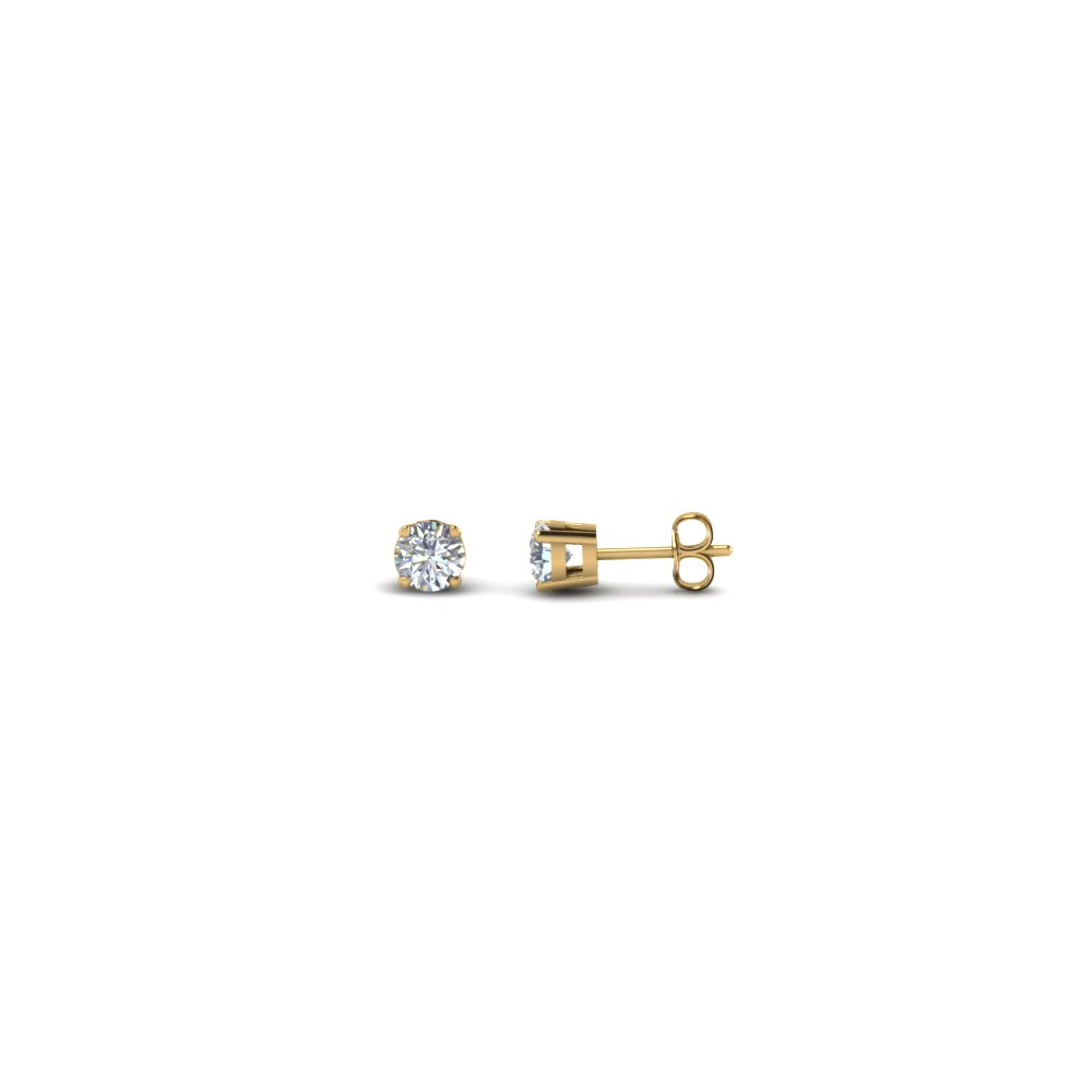 0.25 carat round diamond stud earring in FDEAR4RO0.12CT NL YG