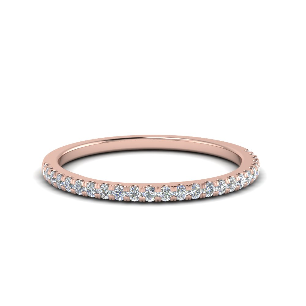 0.25 carat round diamond wedding ring in 14K rose gold FD8370 0.25CTB NL RG