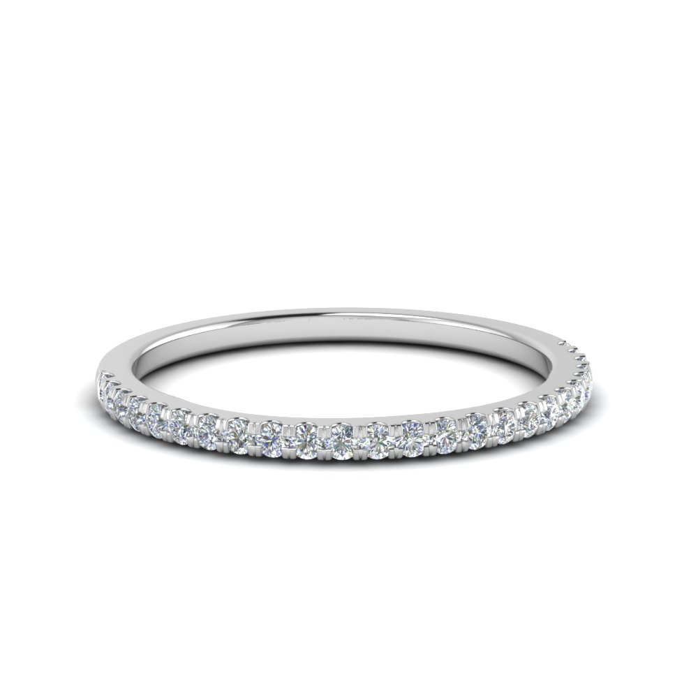 Thin White Gold Wedding Band