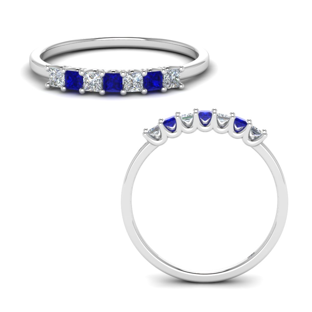 0.25-ct. princess-cut-7-stone-diamond-anniversary-wedding-band-with-sapphire-in-FD123658PR(1.75MM)GSABLANGLE3-NL-WG