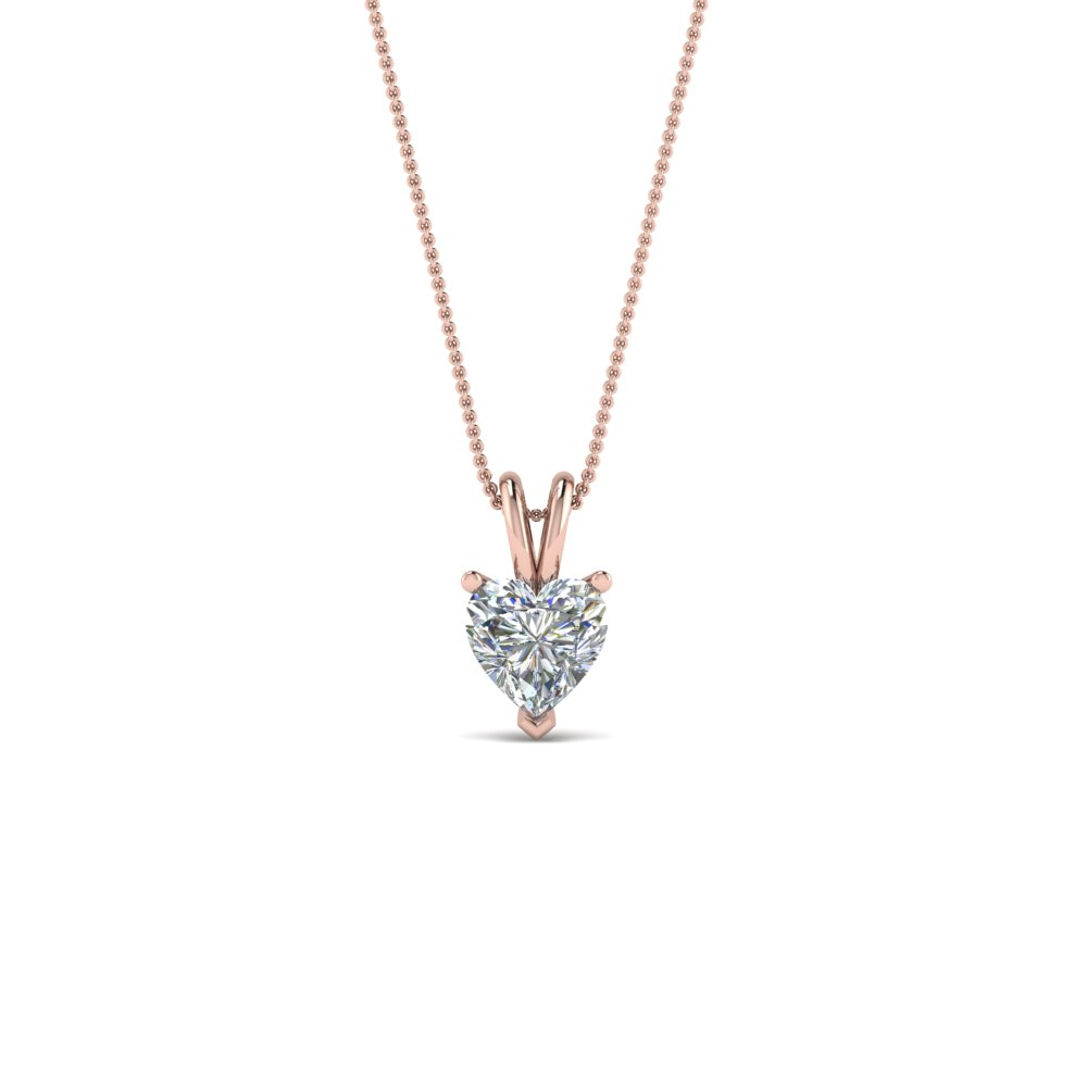 0.25 Ct. Heart Diamond Solitaire Pendant