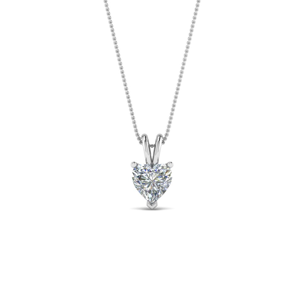 0.25 ct. heart diamond solitaire pendant in FDPD8469HT0.25CTANGLE2 NL WG