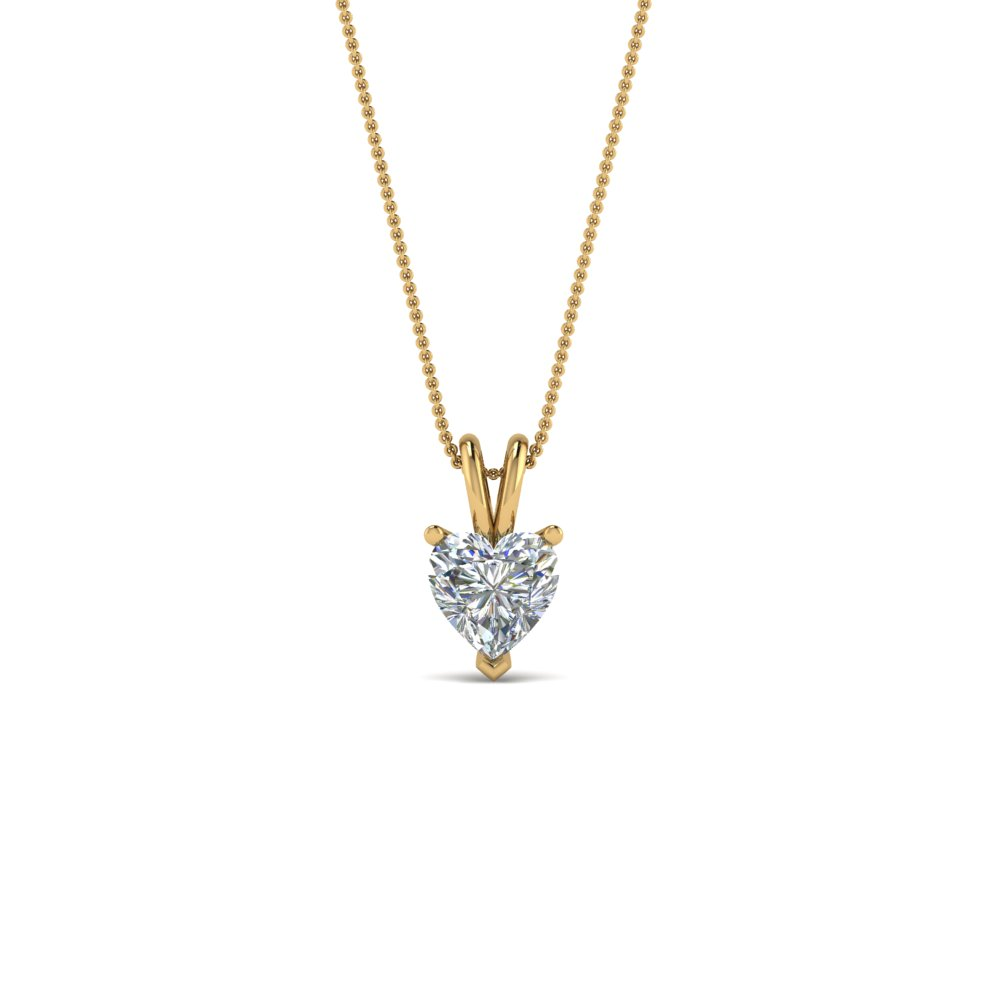Heart Diamond Necklace 0.25 Carat