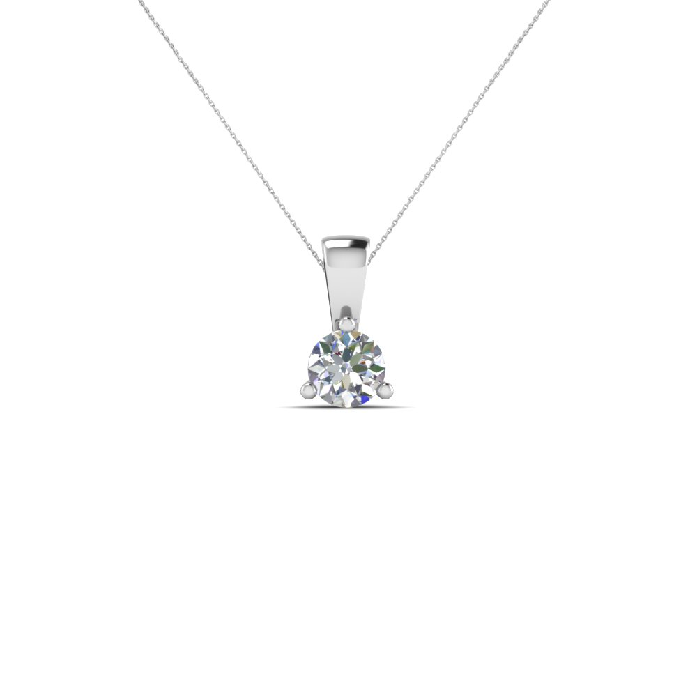 Buy solitaire diamond pendants necklace online fascinating diamonds 025 ct single round diamond pendant in fdpd918ro nl wg mozeypictures Choice Image