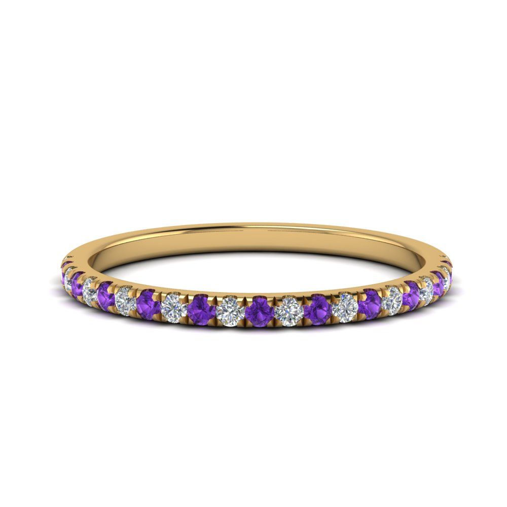 0.25-ct. diamond-delicate-women-weddng-band-with-purple-topaz-in-FD123883RO(1.30MM)GVITO-NL-YG