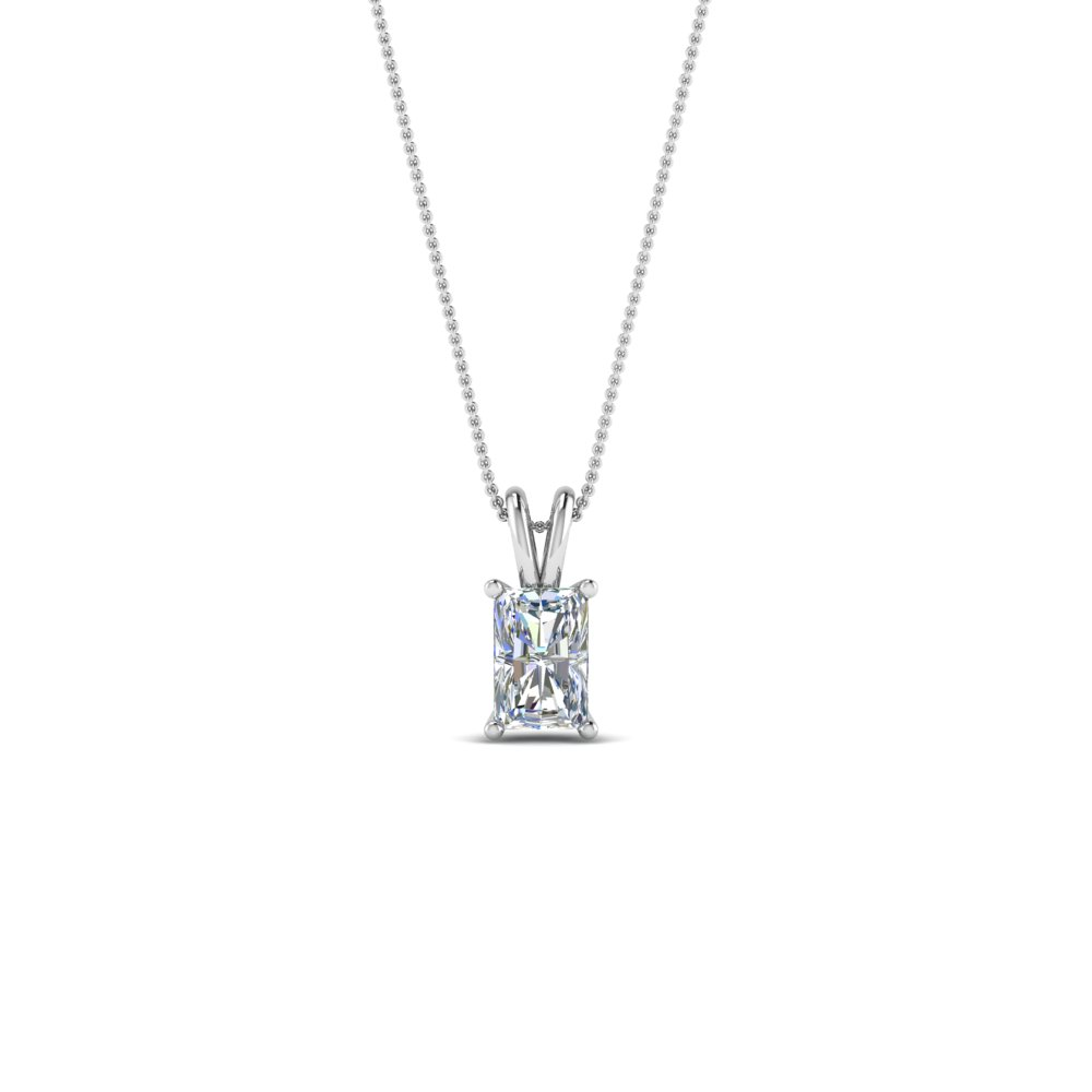0.25 ct. diamond radiant pendant in FDPD8469RA0.25CTANGLE2 NL WG