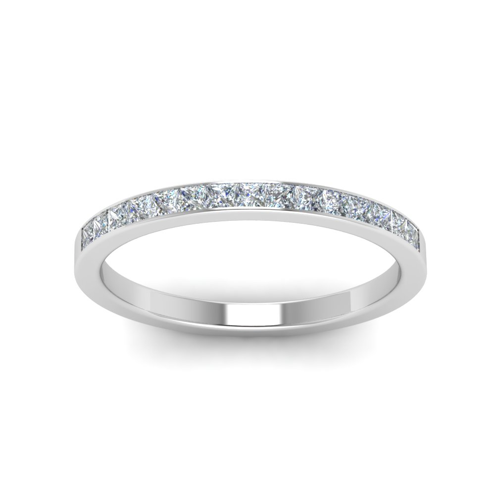 0.25 Ct. Princess Channel Wedding Band