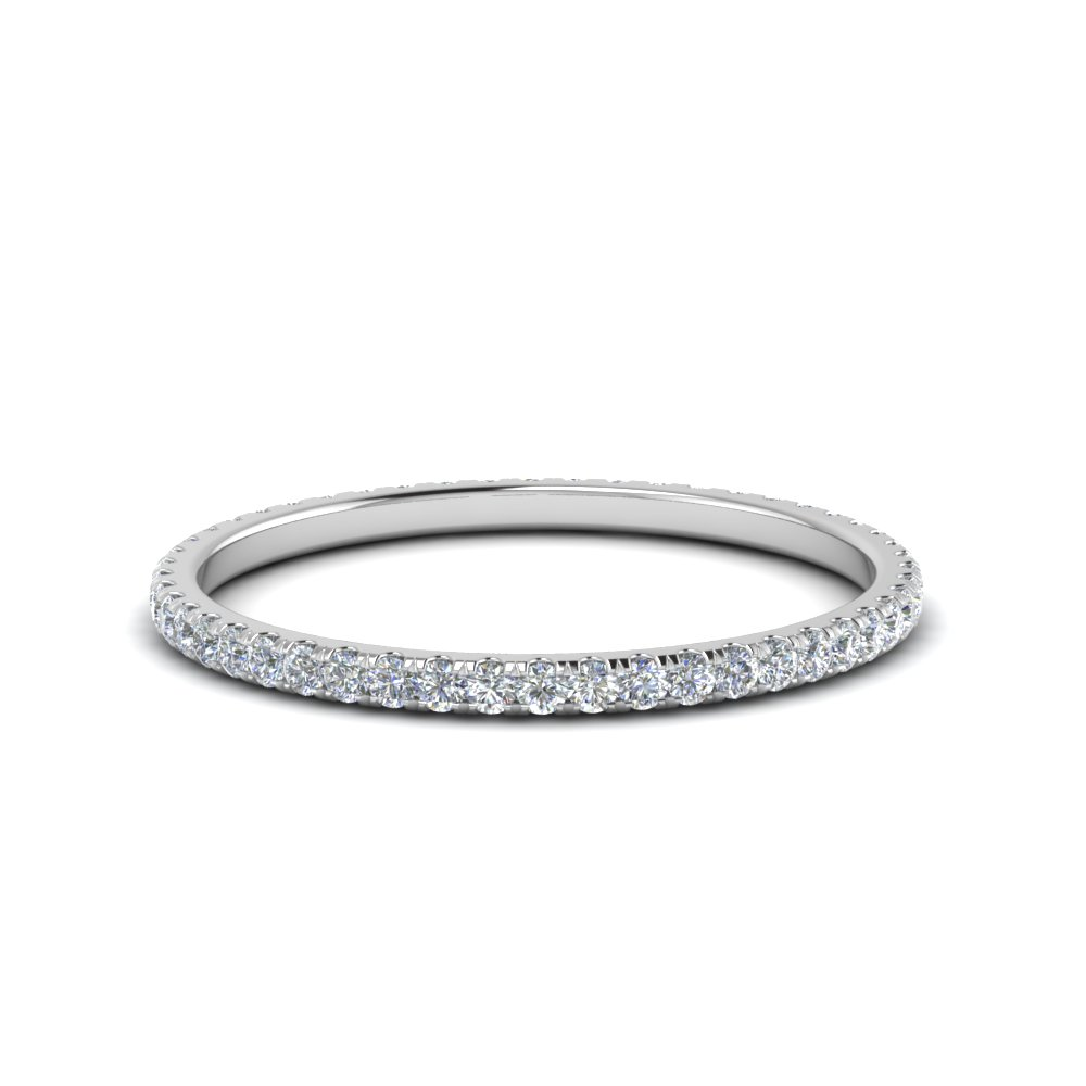 0.25 Ct. Round Diamond Eternity Band In 14K White Gold