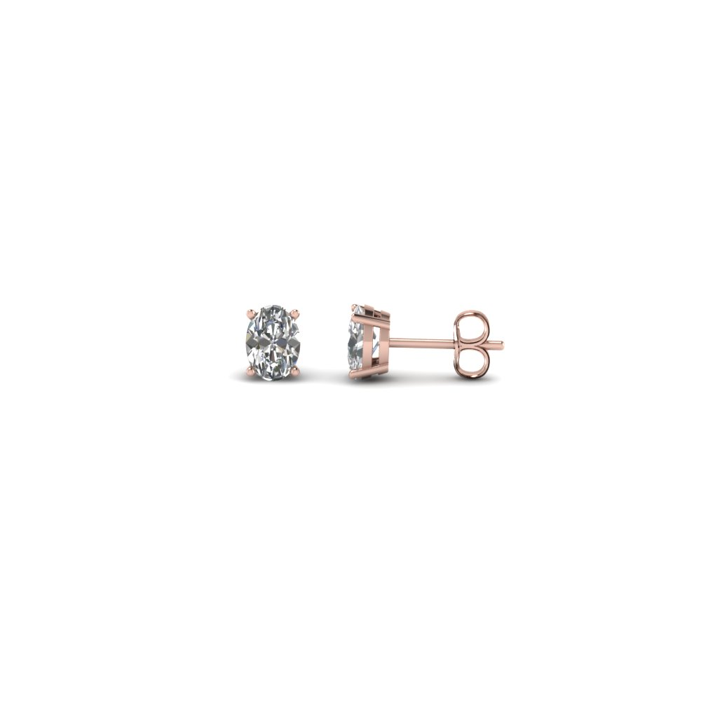 0.30 carat oval shaped diamond earring in 14K rose gold FDEAR4OV0.165CT NL RG