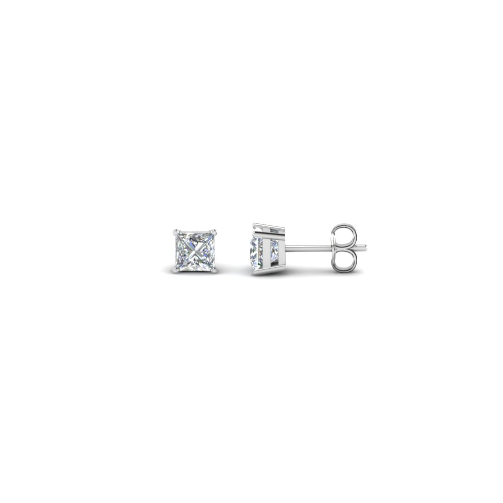 0.34 ct. princess cut stud earring in FDEAR4PR0.165CT NL WG
