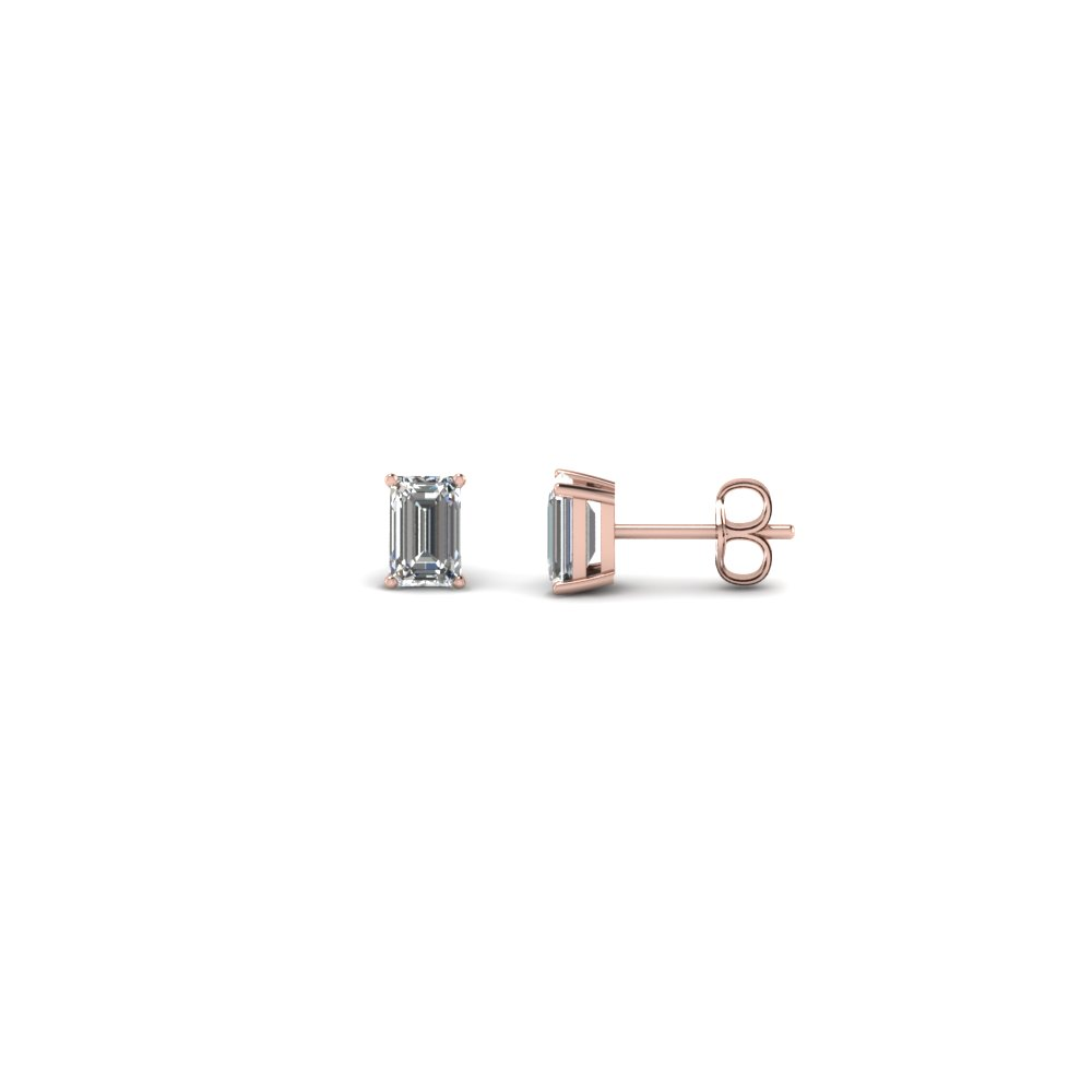 0.35 ct. emerald cut stud earring in FDEAR4EM0.165CT NL RG