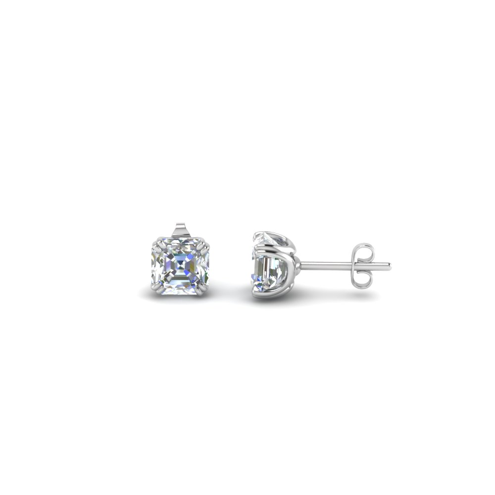 9010b37dc03d4 0.5 Carat Asscher Single Diamond Earring