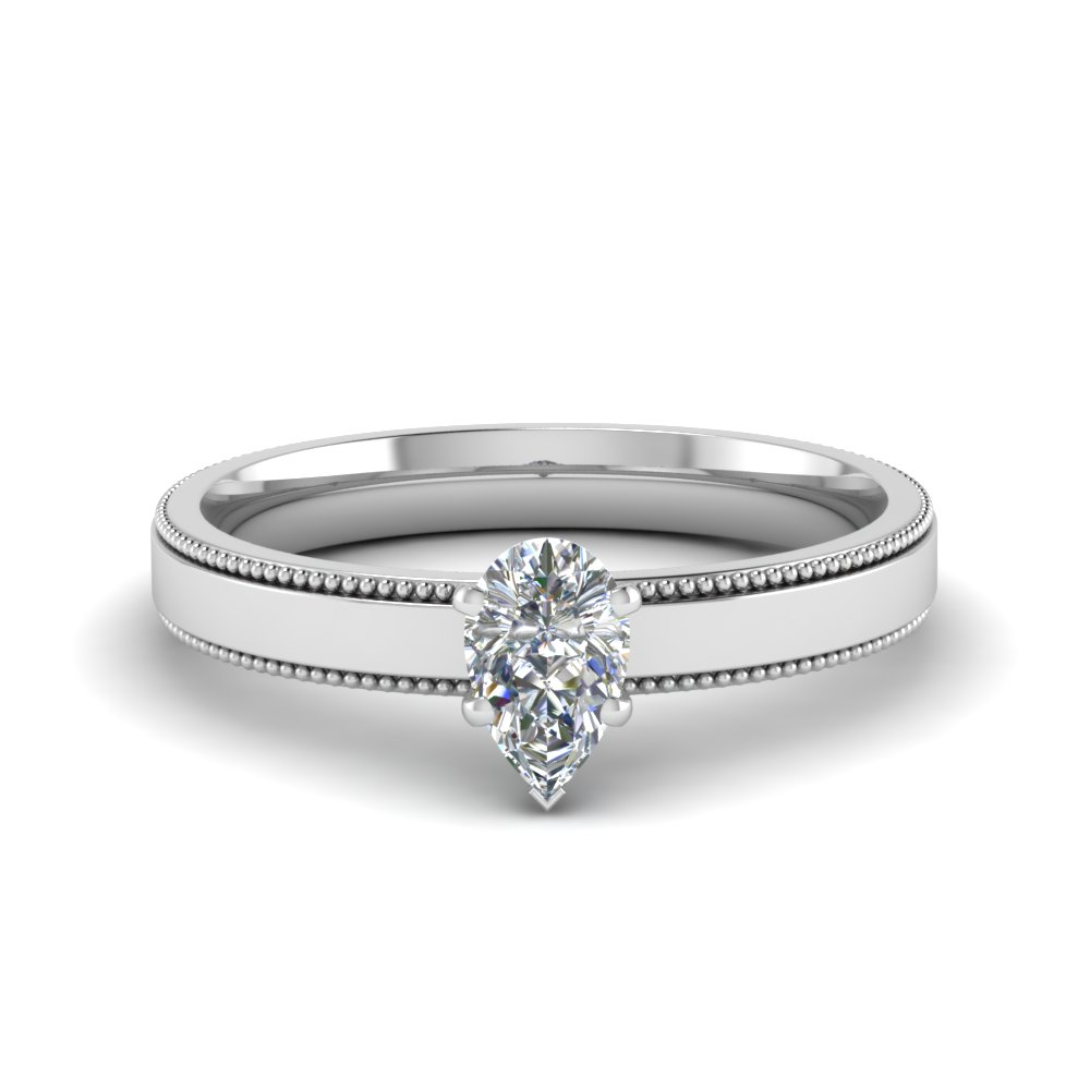 0.5 carat diamond milgrain pear shaped solitaire engagement ring in FDENR8985PER NL WG.jpg