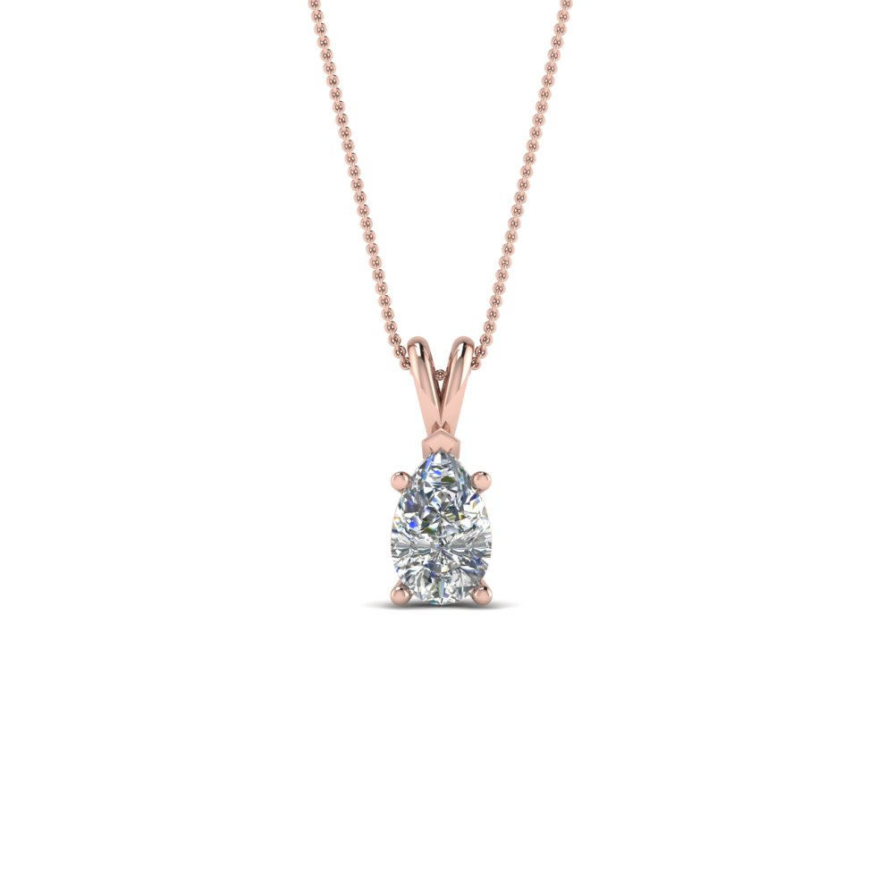 0.5 Ct. Pear Diamond Solitaire Necklace