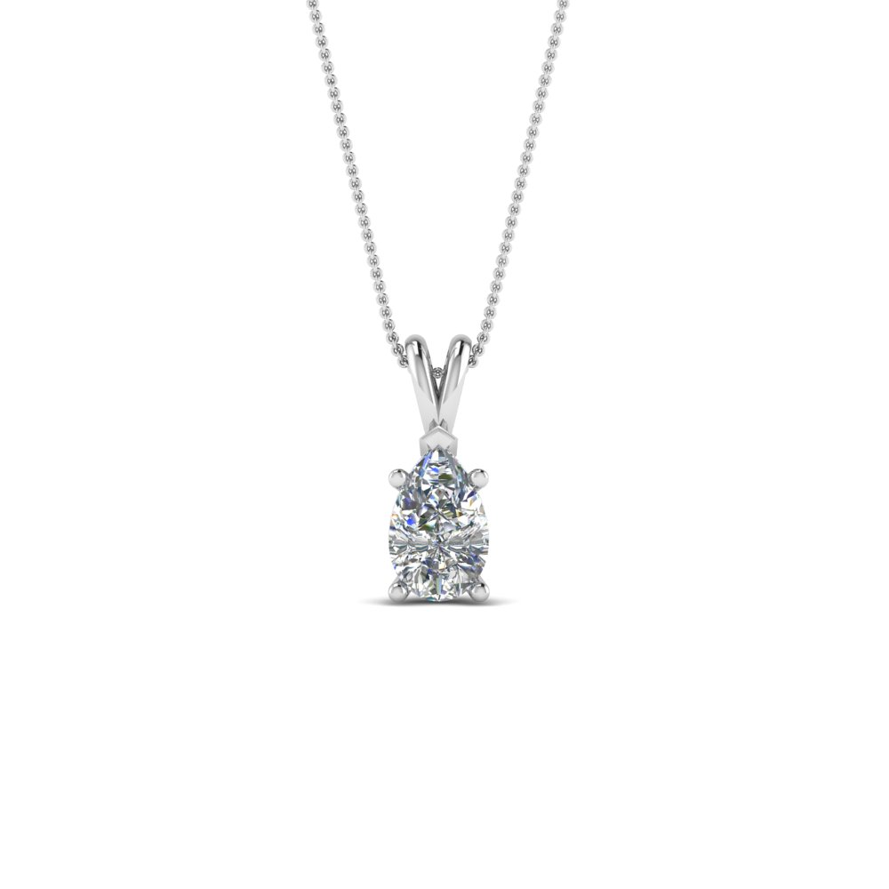 Pear White Gold Diamond Necklace
