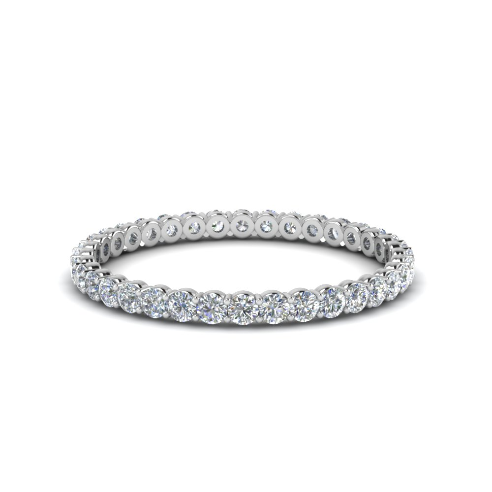 0.50 ct. round diamond shared prong eternity ring in FDEWB8387 0.50CTB NL WG