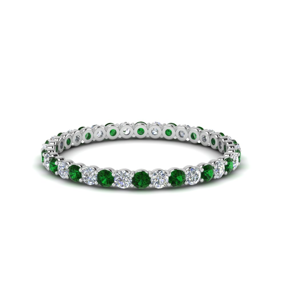 Emerald Eternity Bands
