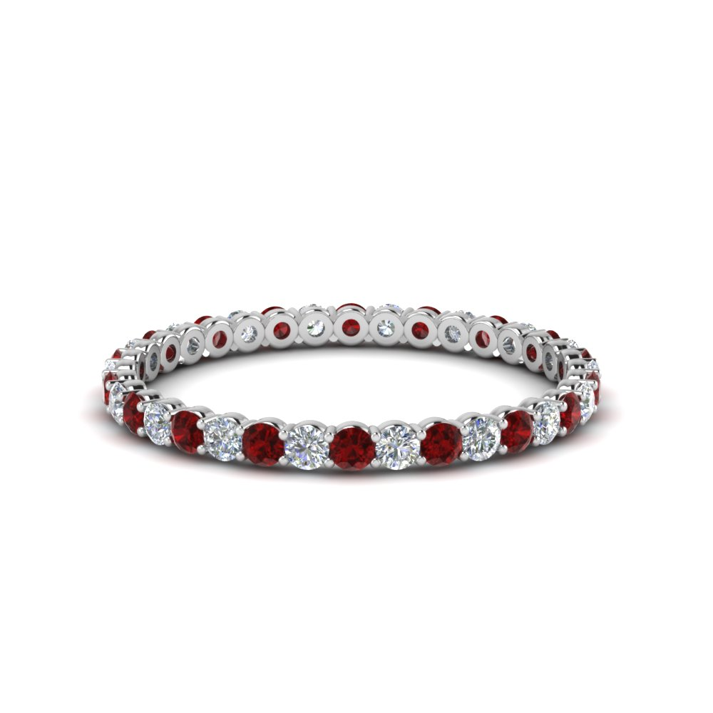 Diamond Shared Prong Eternity Ring