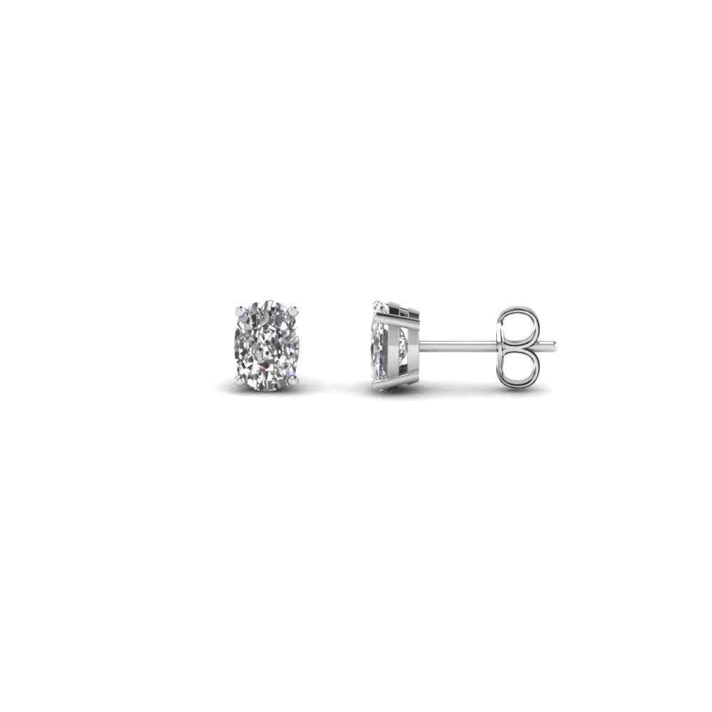 0.50 Carat Cushion Diamond Stud Earring