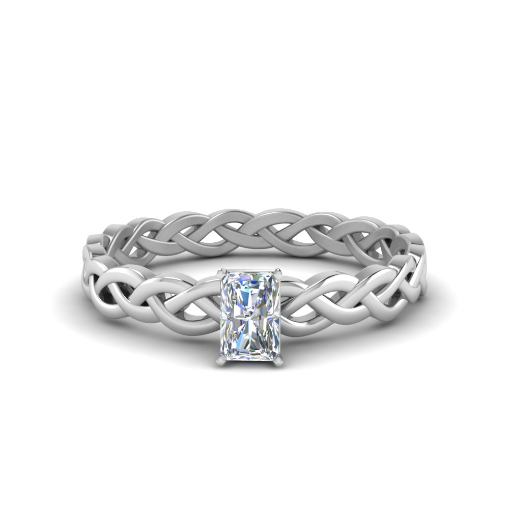 Radiant Cut Split Shank Ring