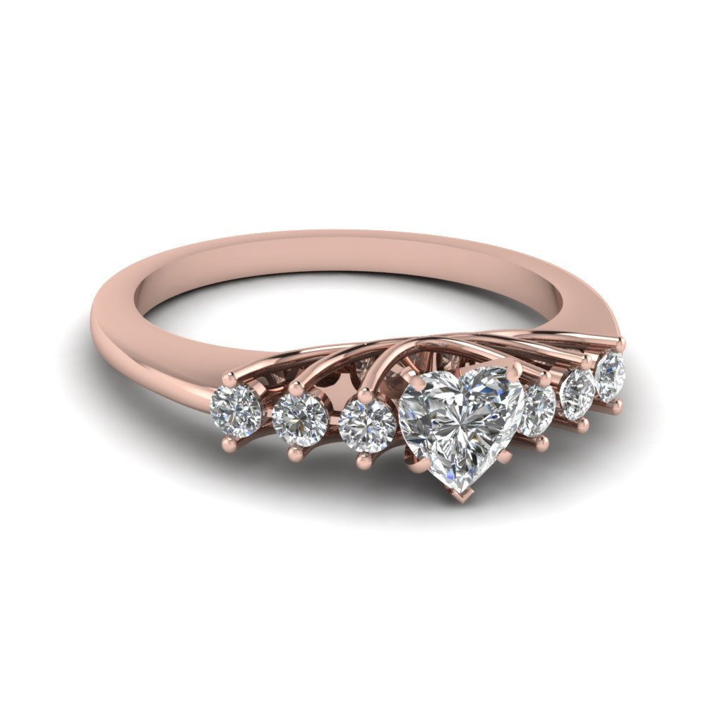 Heart Diamond Petite Rings