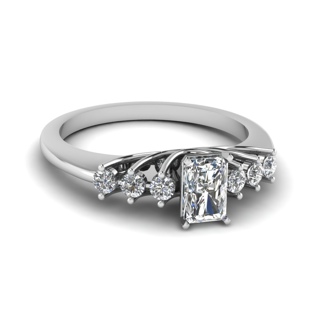 Floating Diamond Wedding Ring