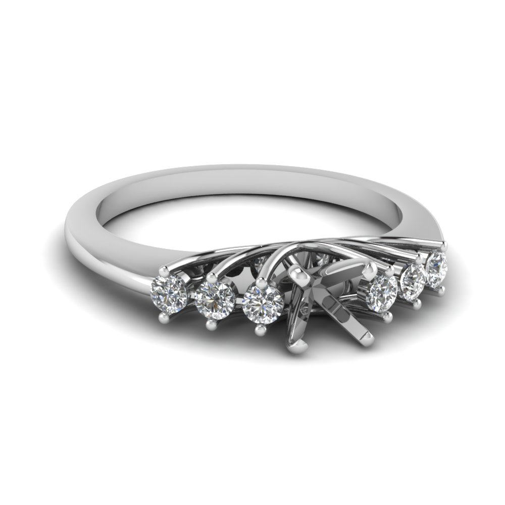 Semi Mount Floating Engagement Ring