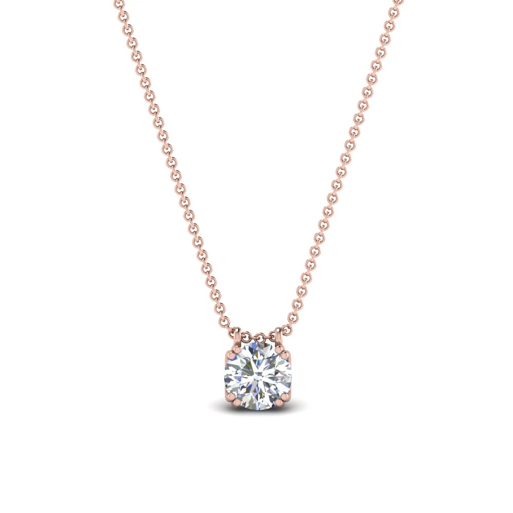 0.50 carat diamond solitaire pendant in 14K rose gold FDPD1935RO(0.50CT)ANGLE1 NL RG