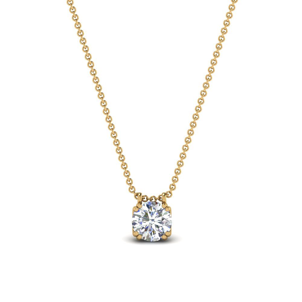 0.50 Ct. Round Diamond Solitaire Pendant