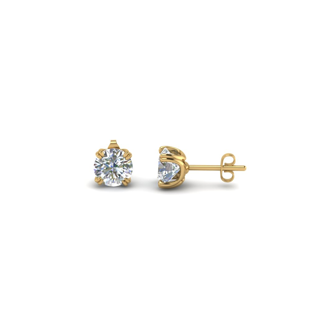 0.50 carat diamond stud earring in FDEAR8461RO-0.25CT NL YG