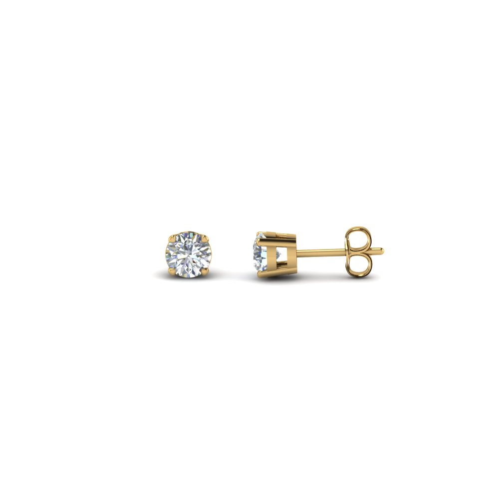 0.50 carat round diamond stud earring in FDEAR4RO0.25CT NL YG