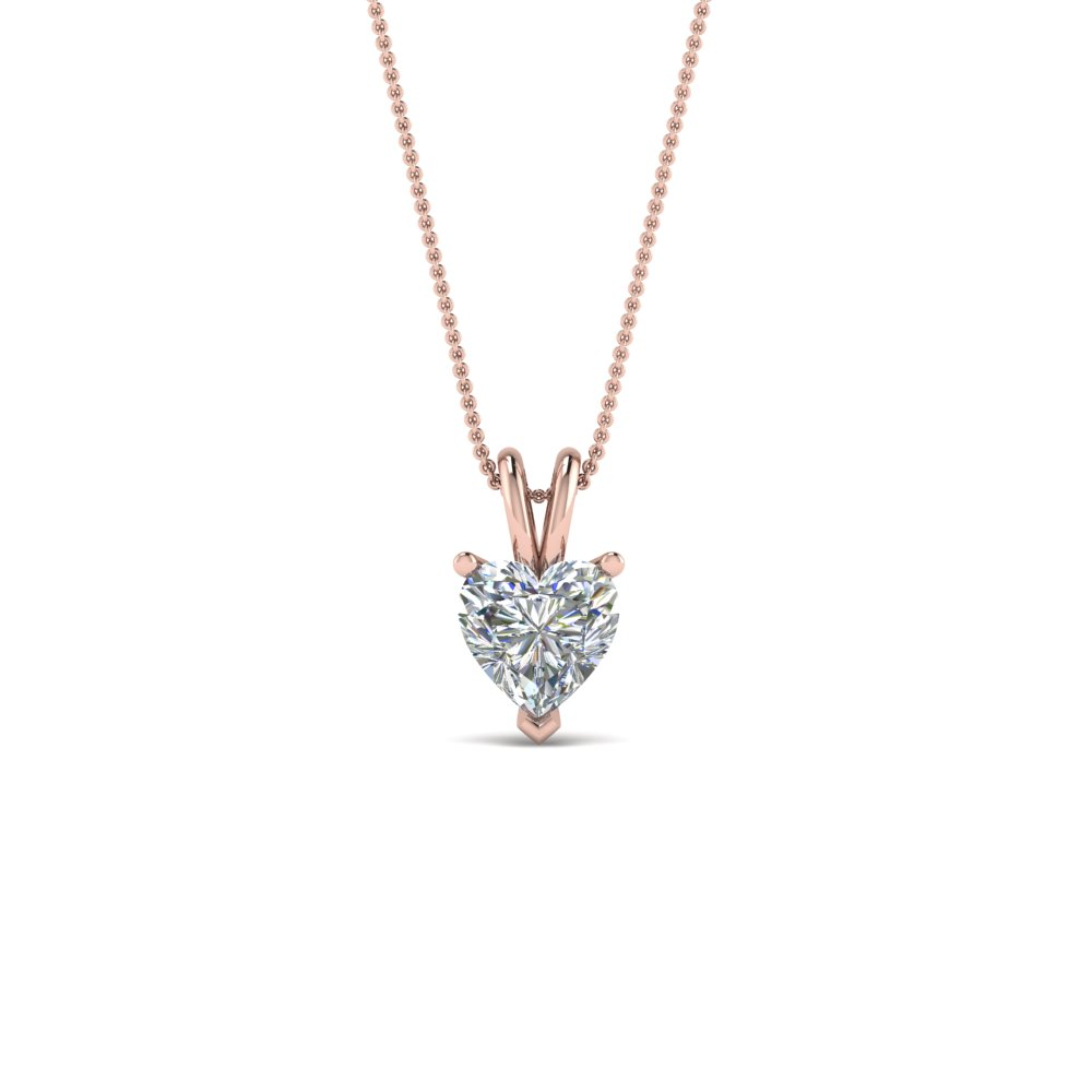 0.50 Ct. Single Diamond Pendant