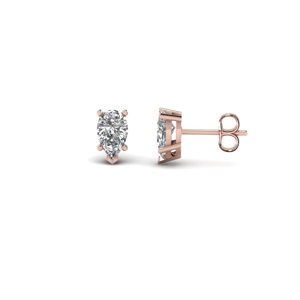 0.50 ct. pear shaped diamond stud earring in FDEAR5PE0.25CT NL RG