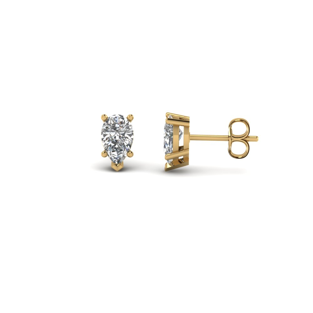 0.50 ct. pear shaped diamond stud earring in FDEAR5PE0.25CT NL YG