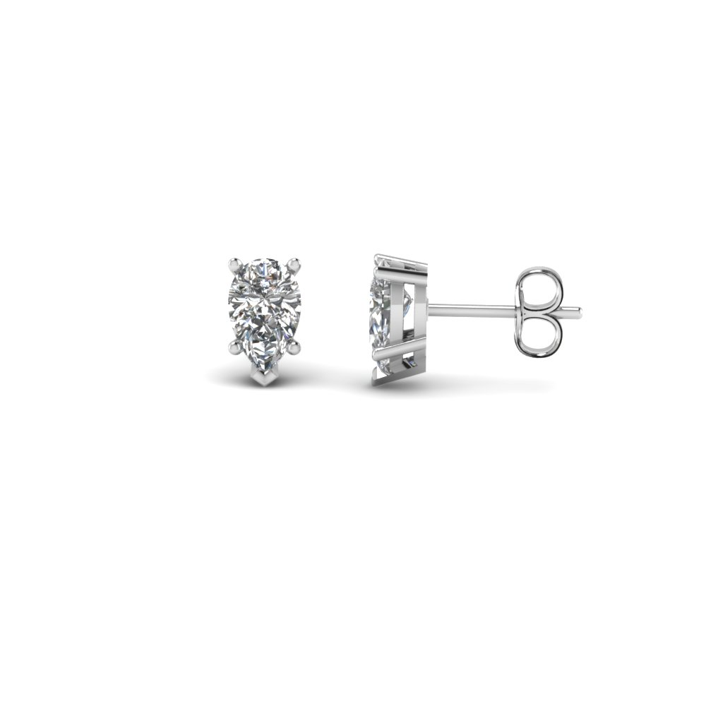 0.50 Ctw. Pear Shaped Diamond Stud Earring