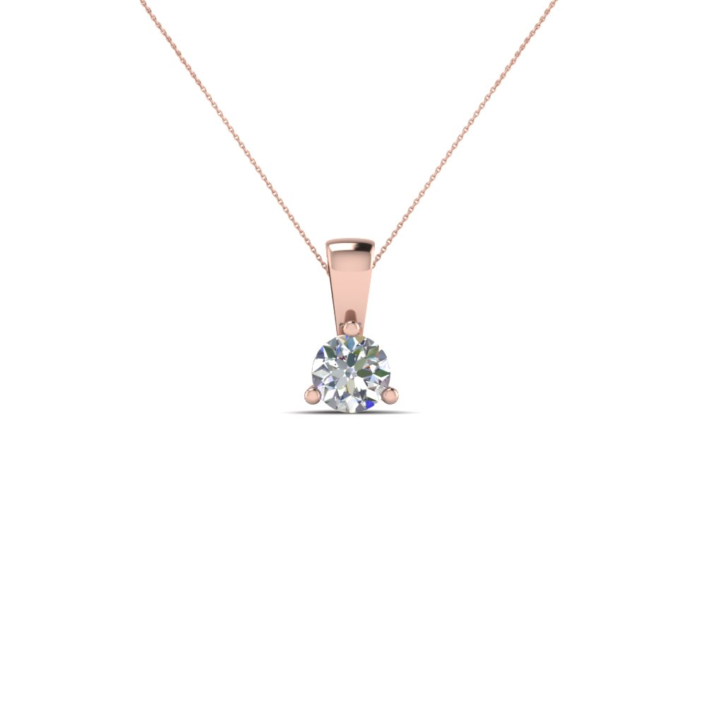 Affordable Round Cut Diamond Pendant Necklace