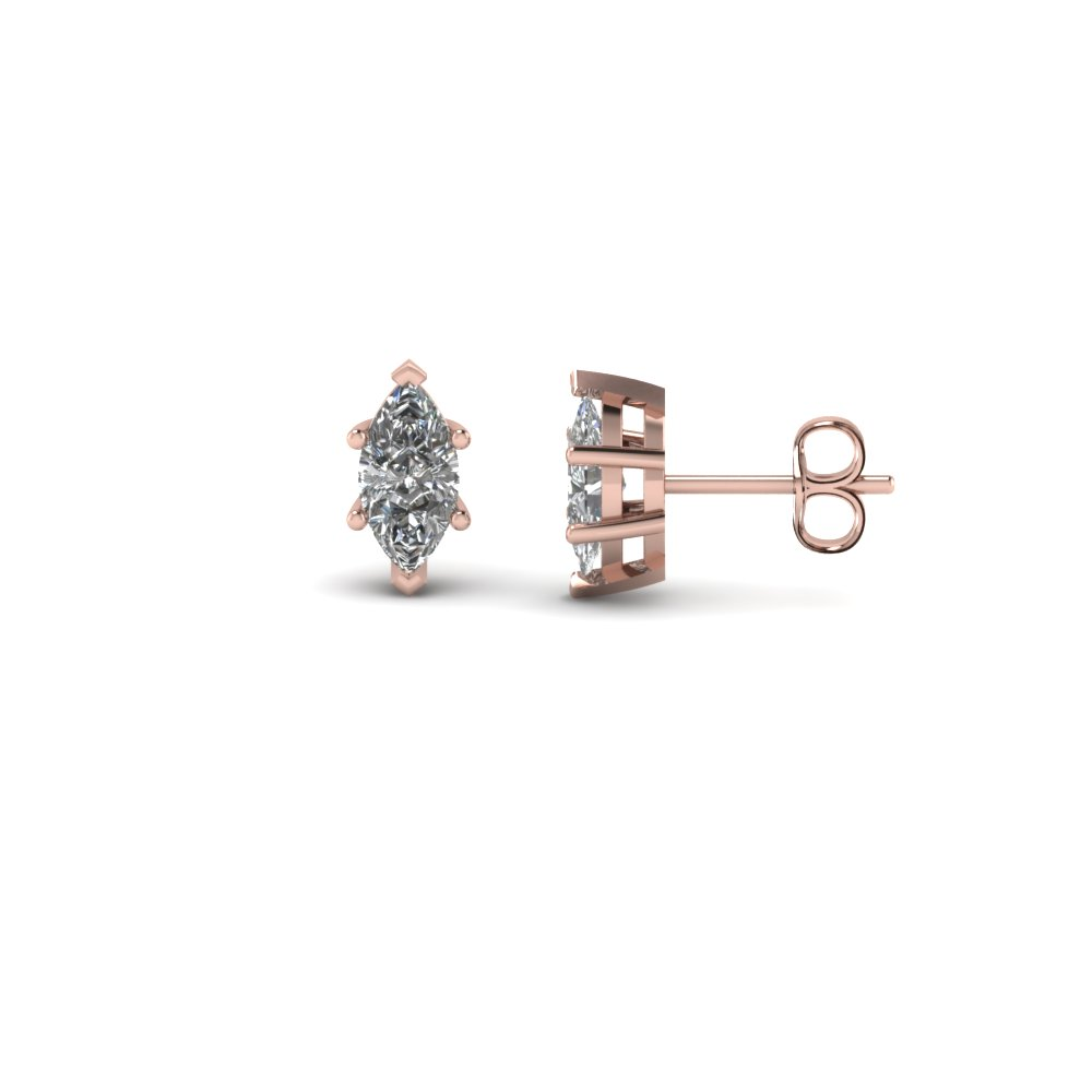 0.50 Ct. Marquise Single Stud Diamond Earring