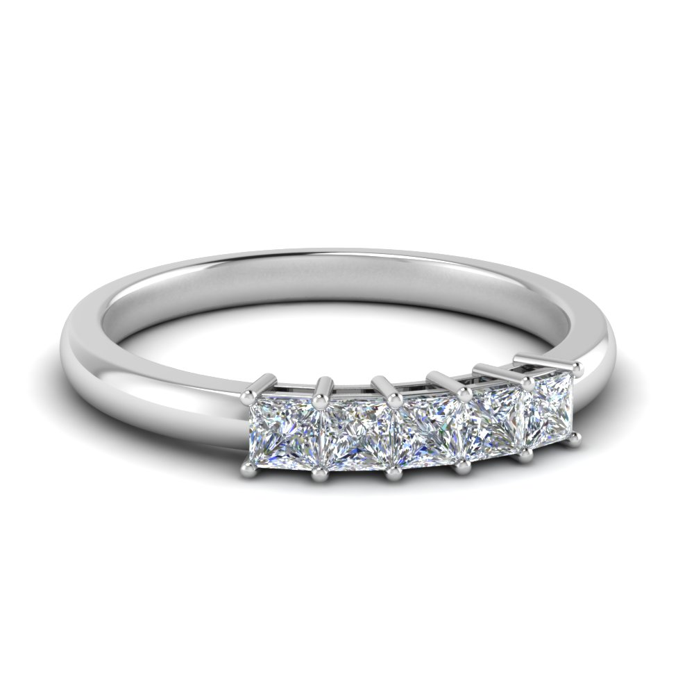 0.50-ct.-princess-cut-5-stone-anniversary-band-in-FD8008PRB 0.50CT-NL-WG