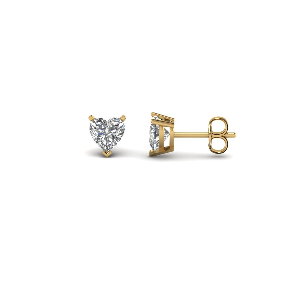 0.50 Ct. Heart Cut Diamond Stud Earring