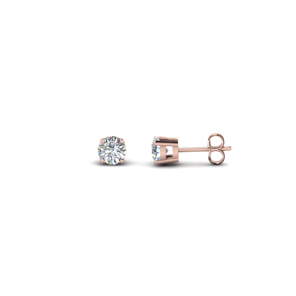 0.60 Carat Round Diamond Stud Earring