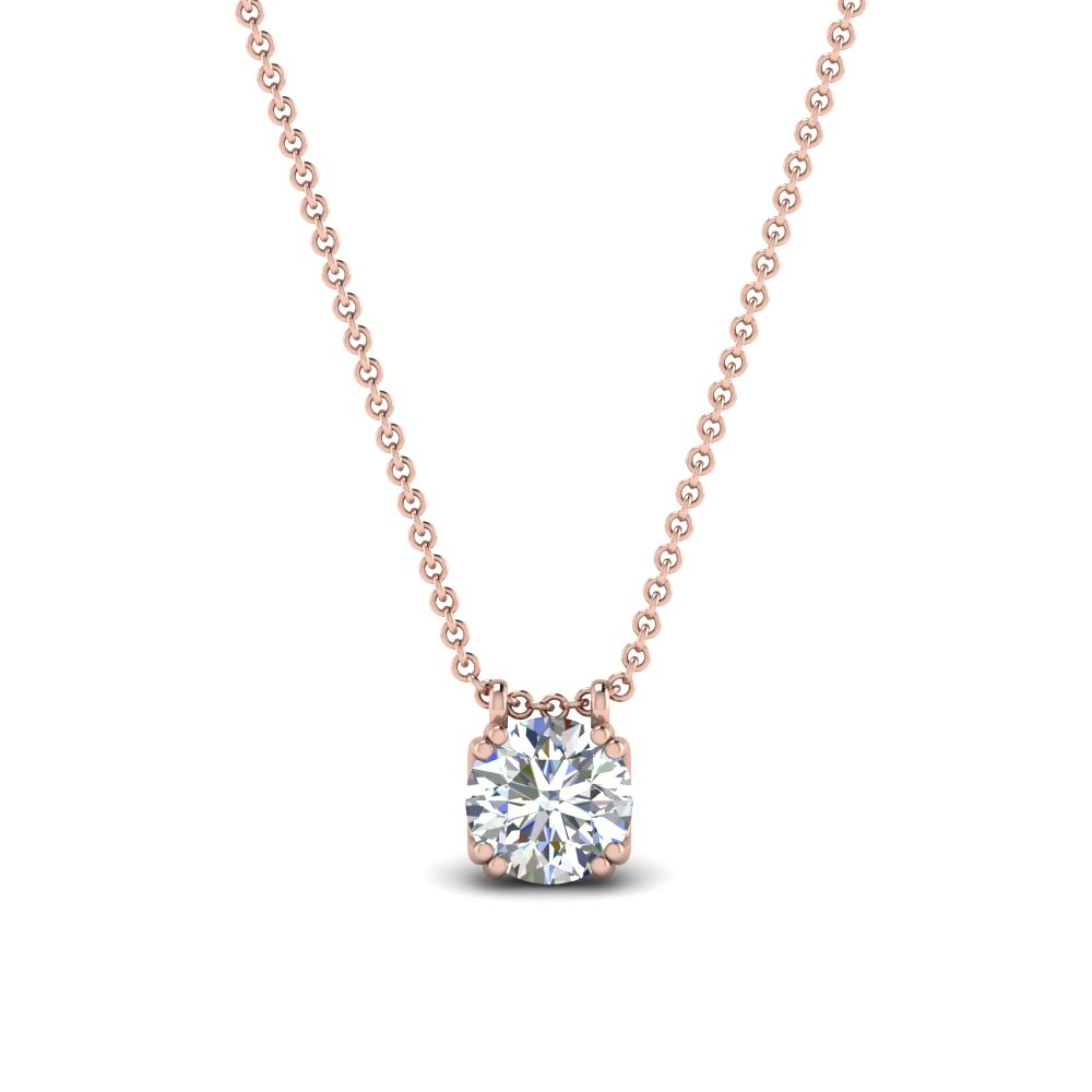 Double Prong Diamond Pendant
