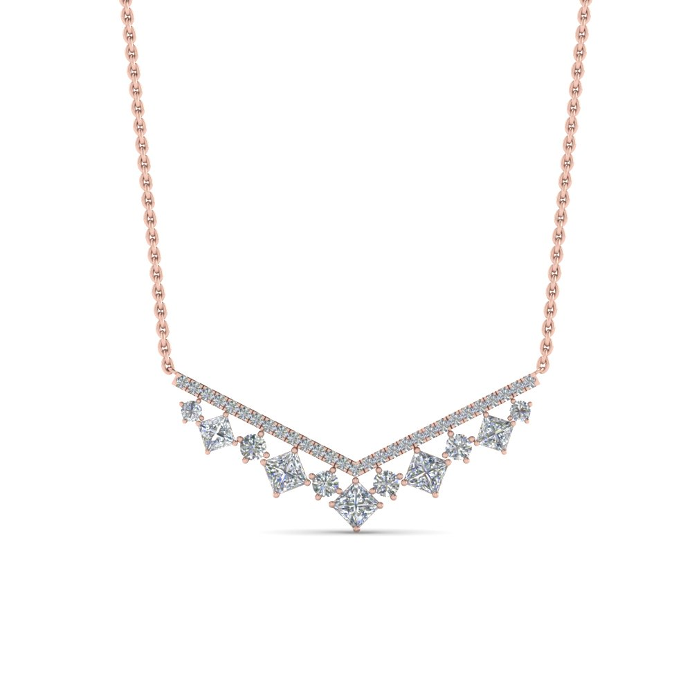 0.75 Carat Diamond V Necklace
