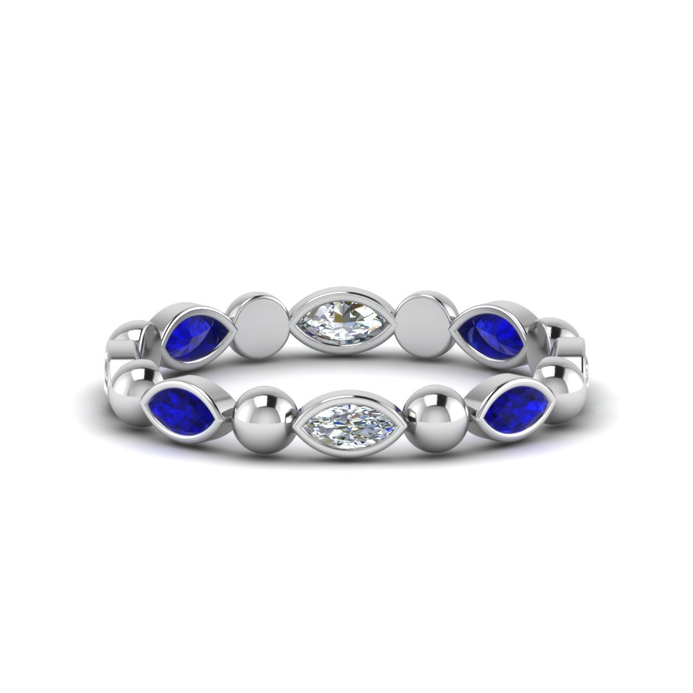 0.75-carat-marquise-cut-diamond-beads-eternity-band-with-sapphire-in-FDEWB123630MQ(4.00MMX2.00MM)GSABL-NL-WG