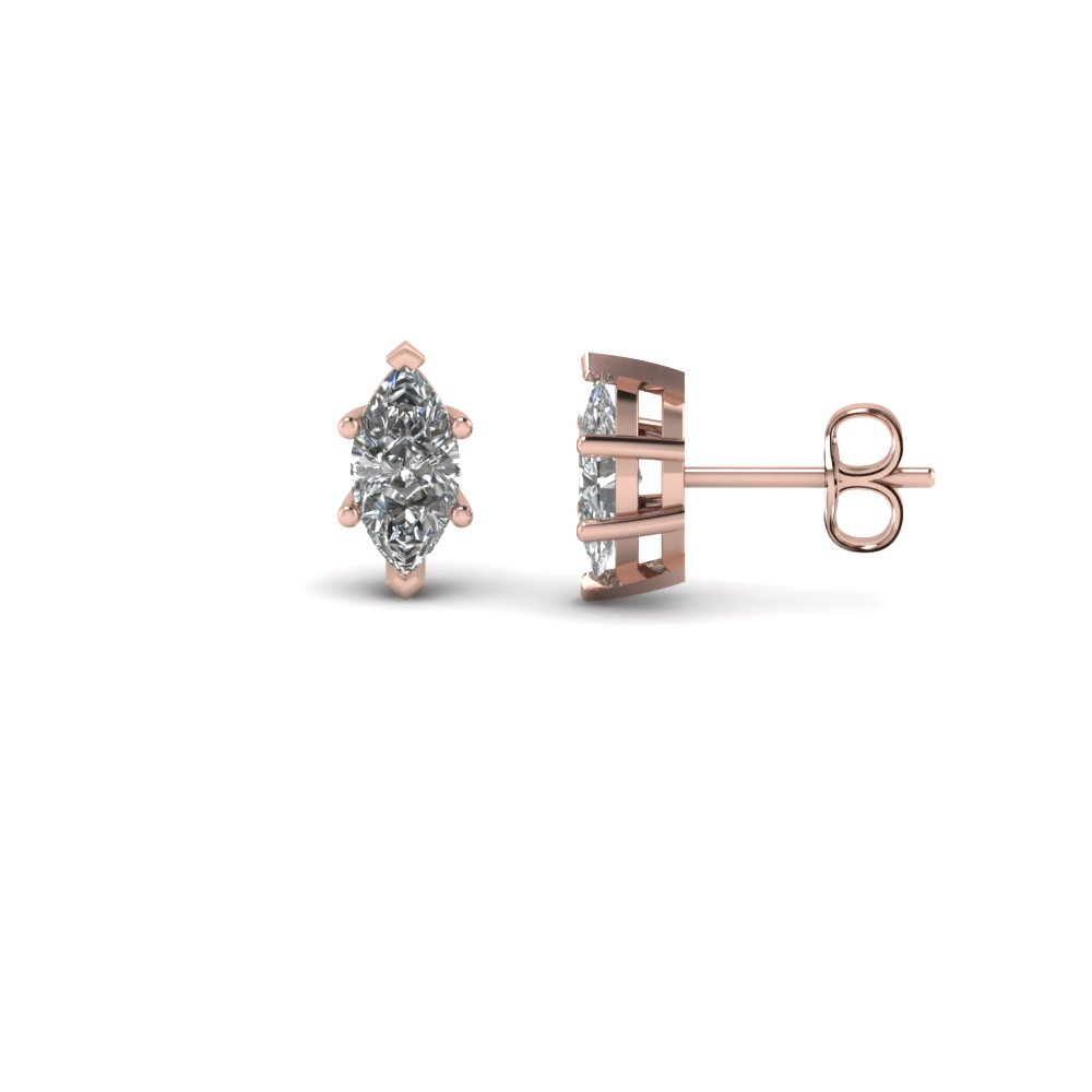 Marquise Diamond Stud Earring