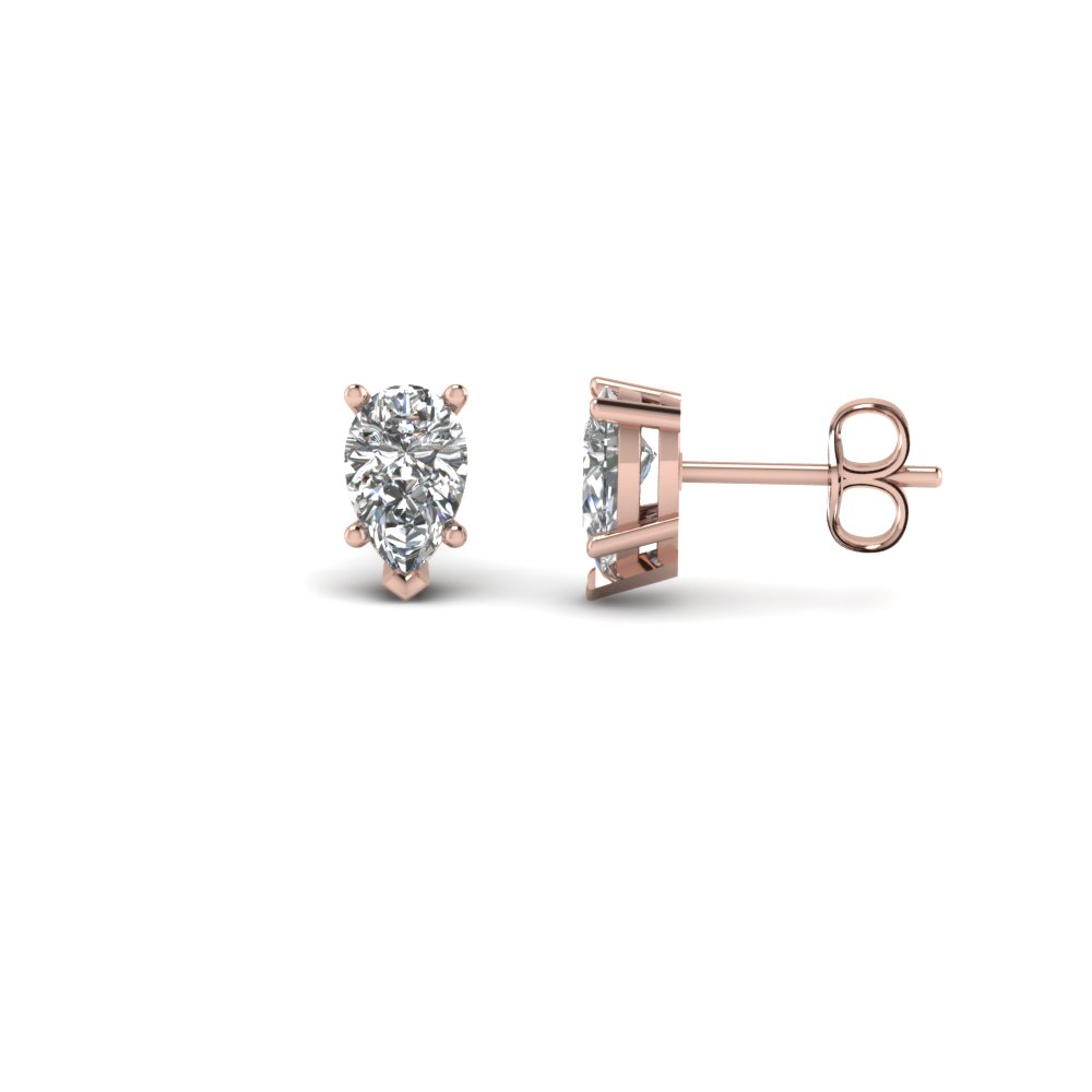 Pear Diamond Stud Earring