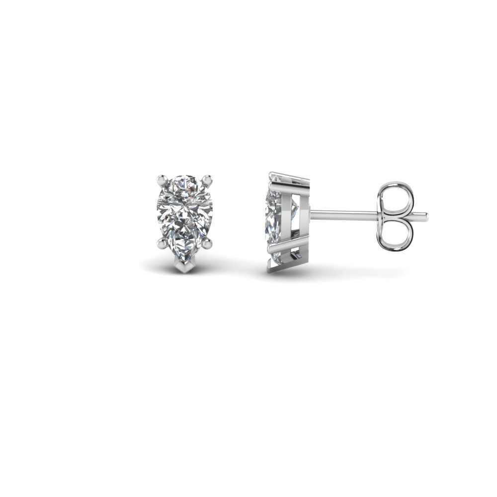 3/4 Carat Pear Diamond Earring